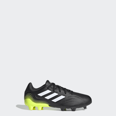 Boys Football Black Copa Sense.3 Firm Ground Boots