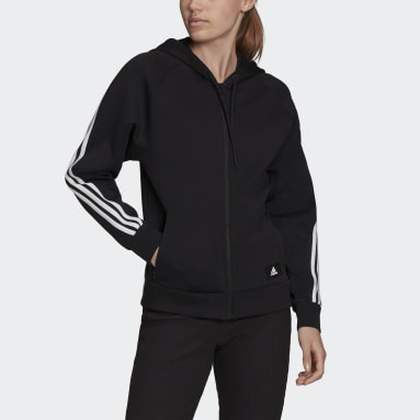 Chaqueta con capucha adidas Sportswear Future Icons 3 bandas Negro Mujer Sportswear