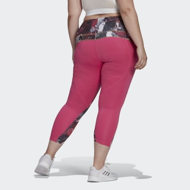Women's Essentials Pink adidas x Zoe Saldana AEROREADY 7/8 Tights (Plus Size)
