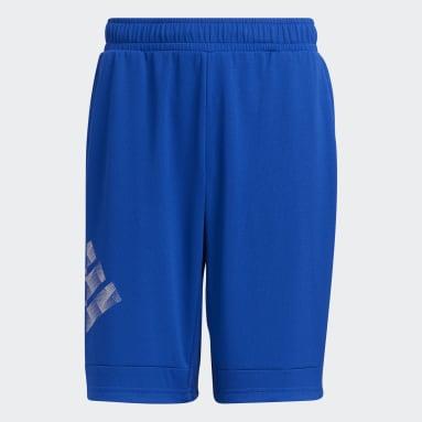 Boys Lifestyle Blue Badge of Sport Shorts