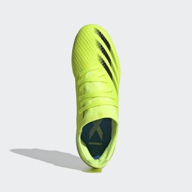 Bota de fútbol X Ghosted.3 césped natural húmedo Amarillo Niño Fútbol