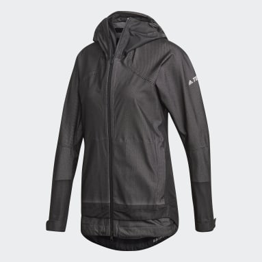 Women TERREX Black Terrex Waterproof Primeknit Rain Jacket