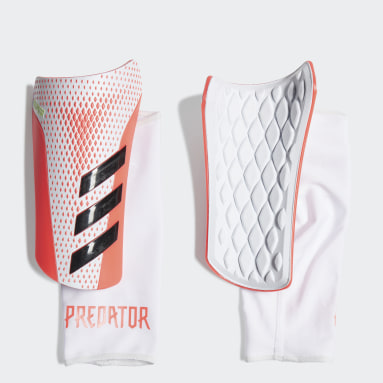Football White Predator 20 League Shin Guards