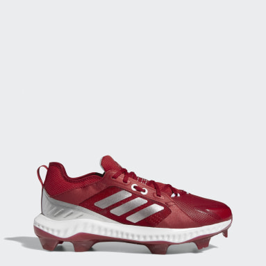 Women's Softball Red PureHustle TPU Cleats