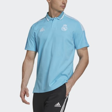 Polo Real Madrid Turquoise Hommes Football