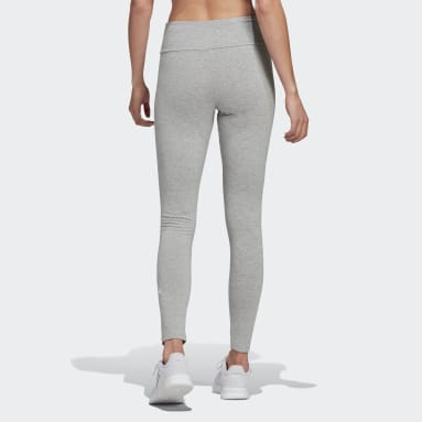 Tight adidas Essentials Stacked Logo High-Rise Grigio Donna Sportswear