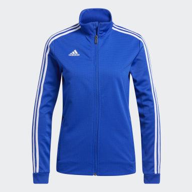 Women's Soccer Blue Tiro 19 Training Jacket