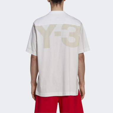 Men Y-3 White Y-3 Classic Offset Logo Short Sleeve Tee