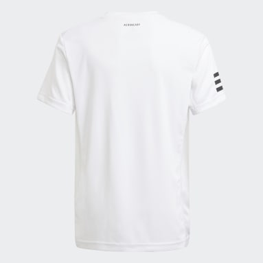 Youth Tennis White Club Tennis 3-Stripes Tee
