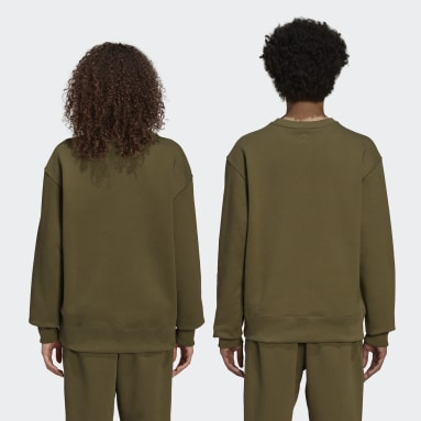 Sweat-shirt Pharrell Williams Basics Crew Vert Originals