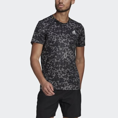 Men Running Grey Fast Primeblue Graphic Tee