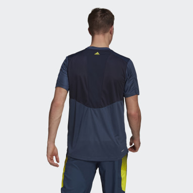 Playera Designed 2 Move Activated Tech AEROREADY Azul Hombre Training