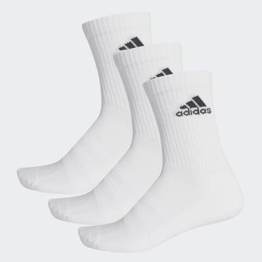 Basketbal bílá Ponožky Cushioned Crew – 3 páry