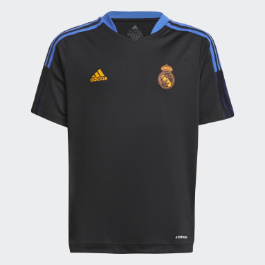 Camiseta entrenamiento Real Madrid Tiro Negro Niño Fútbol