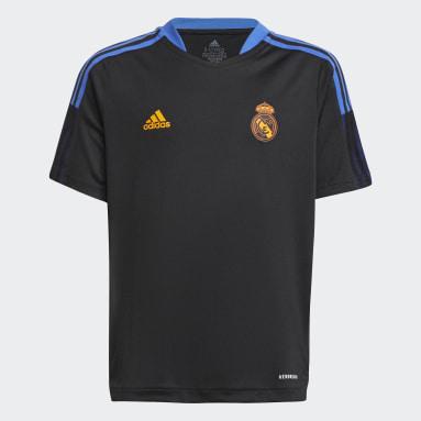 Děti Fotbal černá Tréninkový dres Real Madrid Tiro