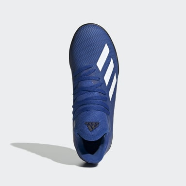 Botines X 19.3 Pasto Sintético Azul Niño Fútbol