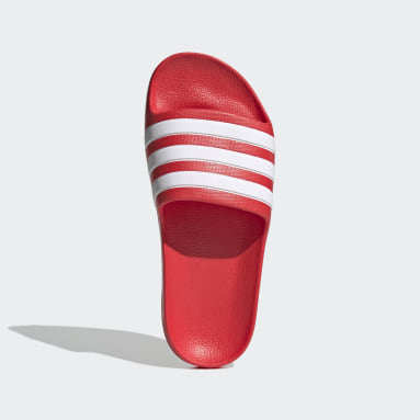 Children Swimming Red Adilette Aqua Slides