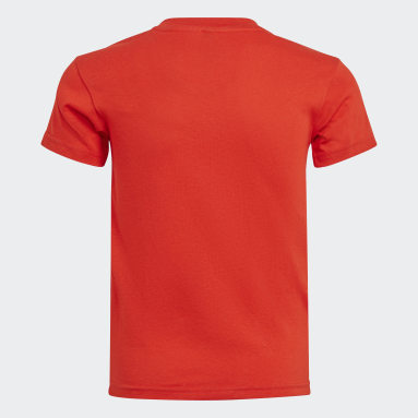 เด็ก เทรนนิง สีแดง เสื้อยืดมีกระเป๋า adidas x Classic LEGO®