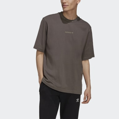 Men's Originals Brown Rib Detail Tee