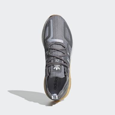 Chaussure ZX 2K Boost gris Hommes Originals