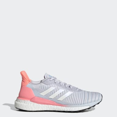 Women Running Grey Solar Glide 19 Shoes