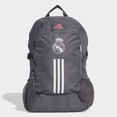 Mochila Real Madrid (UNISEX) Gris Fútbol