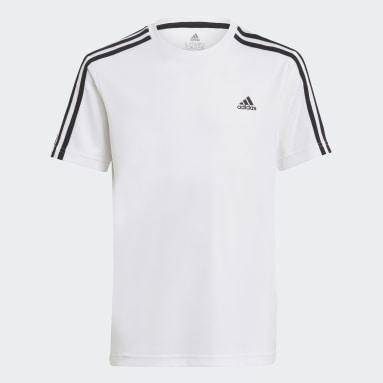 Boys Lifestyle White adidas Designed 2 Move Tee and Shorts Set