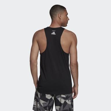Camiseta sin mangas Run Logo Negro Hombre Running