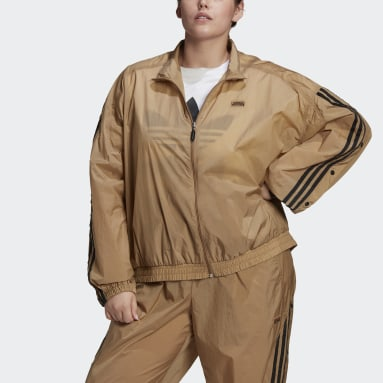 Women's Originals Brown R.Y.V. Track Jacket (Plus Size)