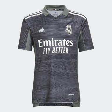 Deti Futbal čierna Dres Real Madrid 21/22 Home Goalkeeper