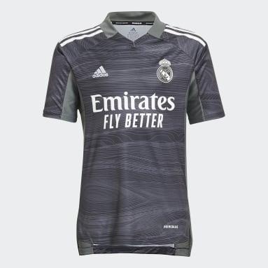 Kids Football Black Real Madrid 21/22 Home Goalkeeper Jersey