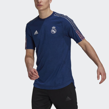 Herr Fotboll Blå Real Madrid Travel Tee