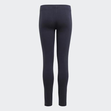 Mädchen Sportswear adidas Essentials 3-Streifen Leggings Blau