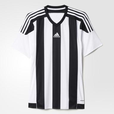 Camisa Listrada 15 Branco Homem Futebol