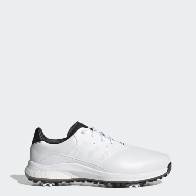 Men Golf White Performance Classic Recycled Polyester Golf Shoes