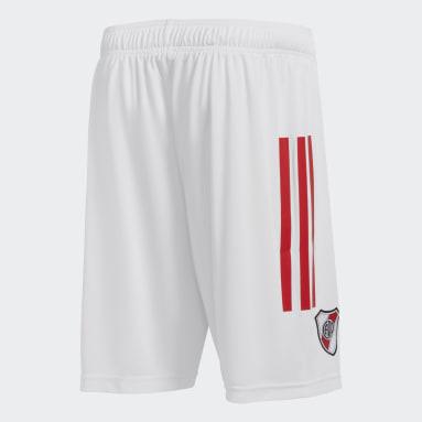 Shorts de basquet de River Plate Blanco Hombre Básquet