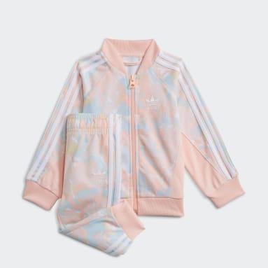 Conjunto chaqueta y pantalón SST Marble Print Rosa Niña Originals