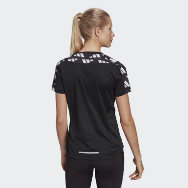 T-shirt Own The Run Celebration Noir Femmes Running