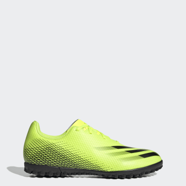 Chaussure X Ghosted.4 Turf jaune Hommes Soccer
