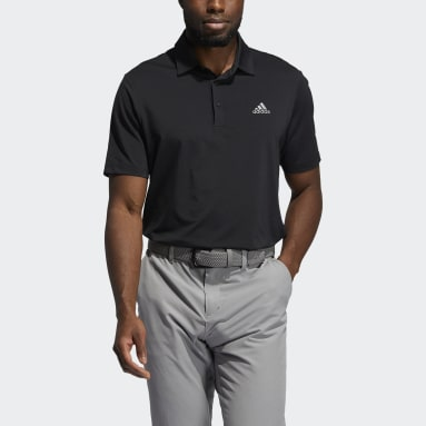 Men Golf Black Ultimate365 Solid Left Chest Polo Shirt