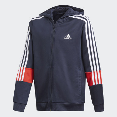 Veste à capuche AEROREADY 3-Stripes Flow Primeblue Bleu Garçons Fitness Et Training