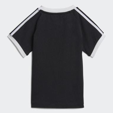 Kinder Originals 3-Streifen T-Shirt Schwarz