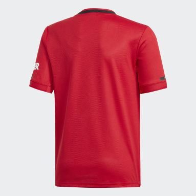 Boys Football Red Manchester United Home Jersey