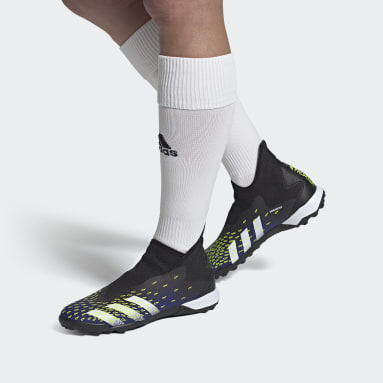 Soccer Black Predator Freak.3 Laceless Turf Shoes