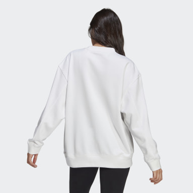 Women Originals White LOUNGEWEAR Adicolor Essentials Sweatshirt