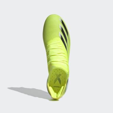 Bota de fútbol X Ghosted.1 césped natural húmedo Amarillo Fútbol
