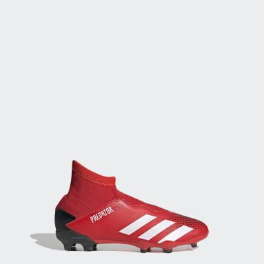 Calzado de fútbol Predator 20.3 Terreno Firme Rojo Niño Fútbol