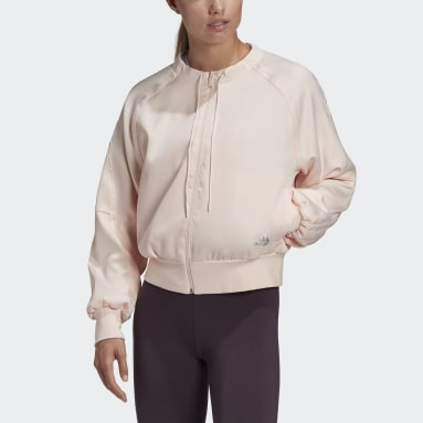 Women Sportswear Pink Glam On Bomber Jacket