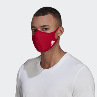 Gym & Training Red Face Covers 3-Pack M/L