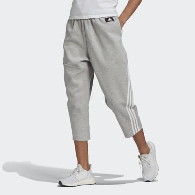 Women Sportswear Grey adidas Sportswear Z.N.E. Wrapped 3-Stripes 7/8 Pants